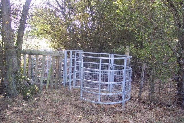 Double kissing gates near High Halden