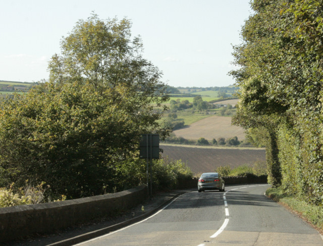 2009 : B3110 near the top of Midford Hill