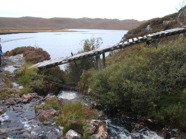Bridge over mountain stream