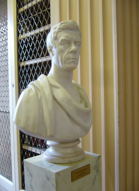 Henry Brougham bust, Playfair Library