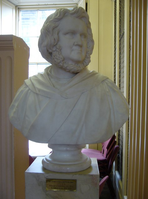 James Young Simpson bust, Playfair Library