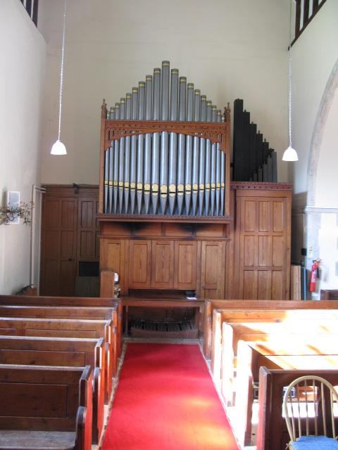 The organ in St Nicholas' church