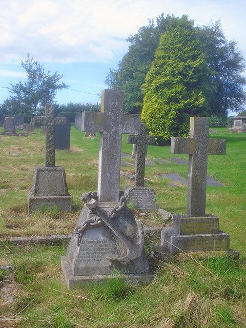 Decorative gravestone in Packington churchyard