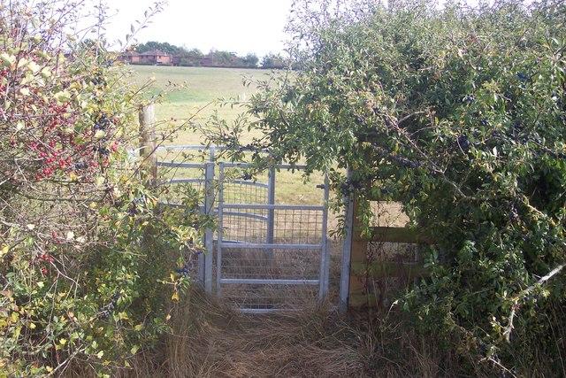 Kissing Gate near Little Hookstead Farm
