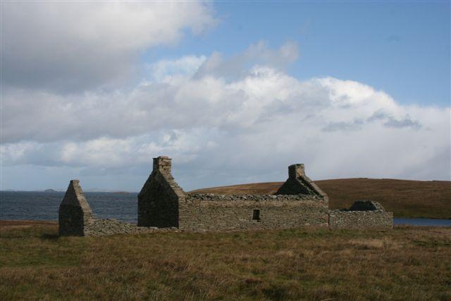 Deserted croft at White Ayre