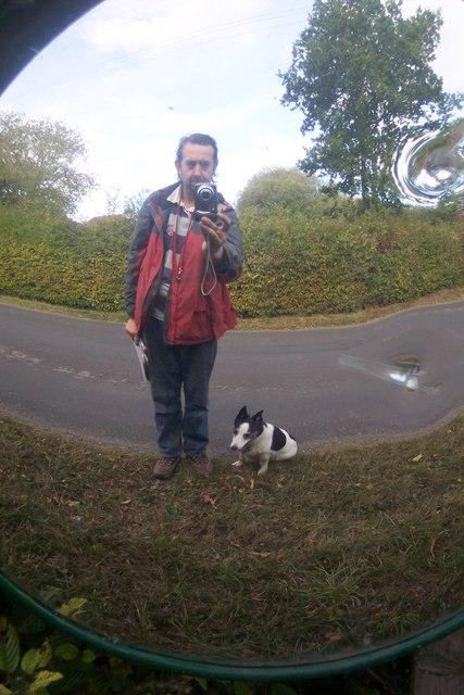 Mirror on High Halden Road
