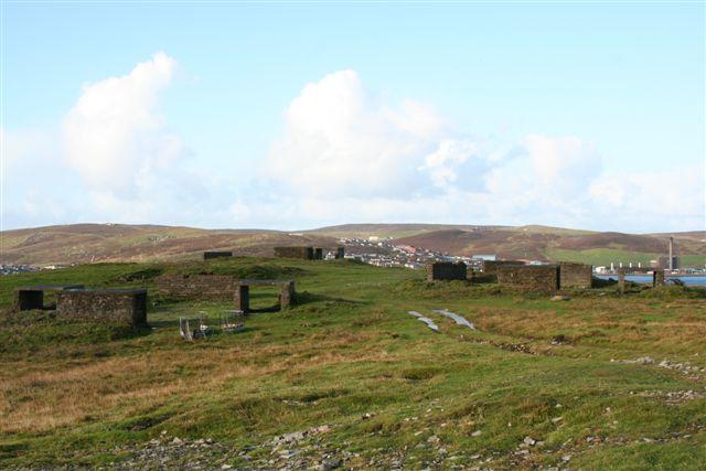 2nd War anti aircraft battery site at Cruester