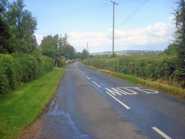 Main road at Bromsash