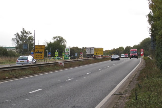 A46 southbound services near Warwick