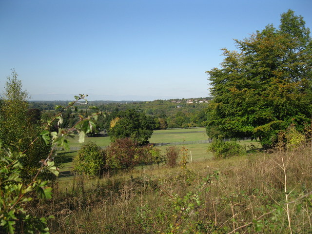 View over the fields at Mickleham