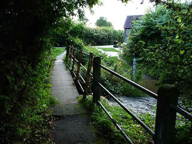 Footbridge, River Redlake, Bucknell