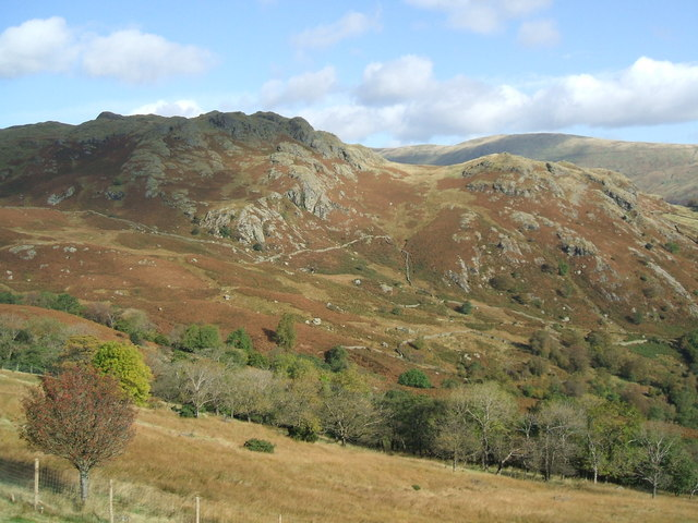 Looking across the valley to Ewe Crags