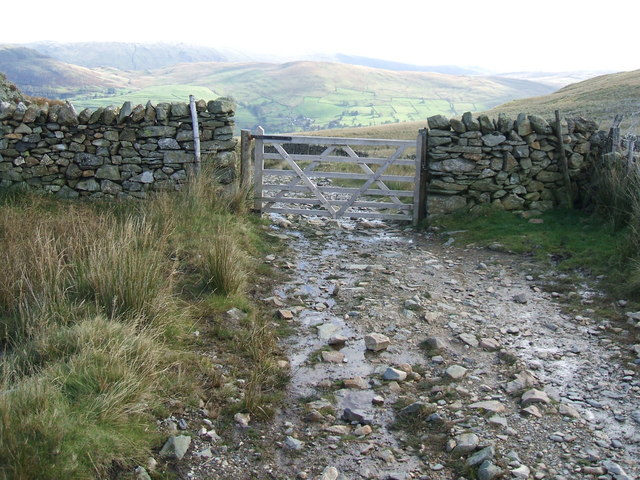 Gate at the top of the Garburn Pass