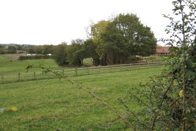 Former rifle range near Hampton Magna