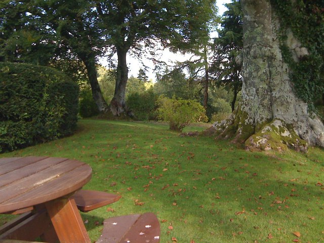 Picnic area at Mabie House