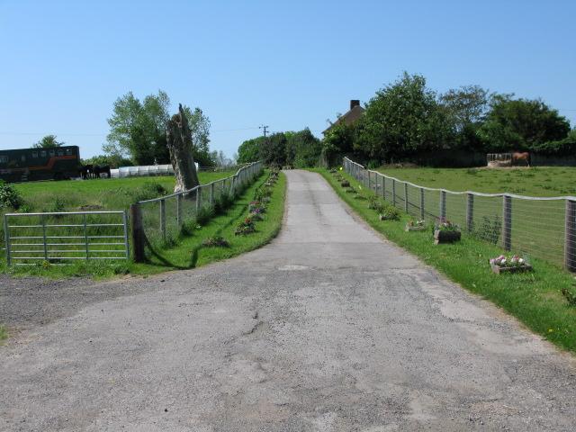 Footpath through Barville Farm