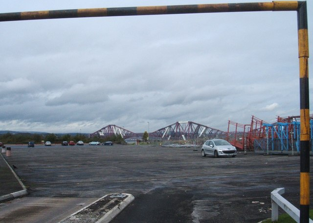 Car park and Forth Bridge