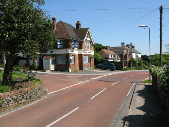 Junction of Church Hill with Wigmore Lane