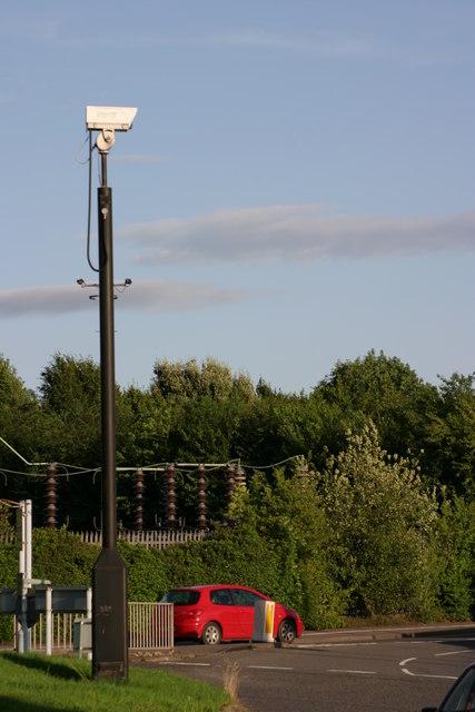 C.C.T.V Camera on a Traffic Island near Saxon Drive