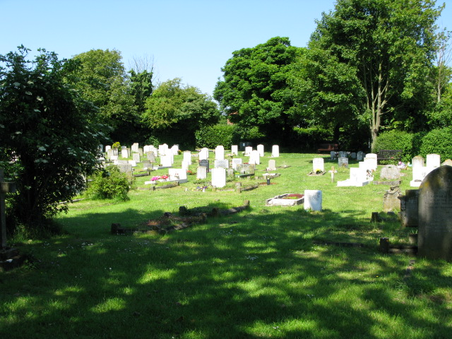 Graveyard of the church of St Peter and St Paul