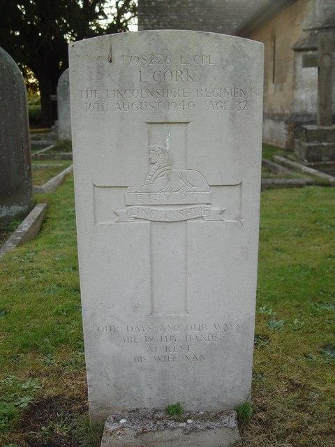 War Grave, St Saviours, Tetbury.