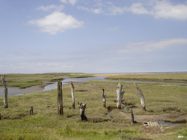 The remains of Thornham harbour