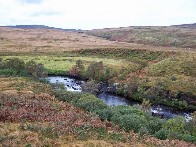 Varragill River, and its former route?