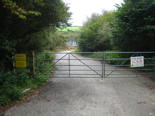 Entrance to the substation at Bussavean