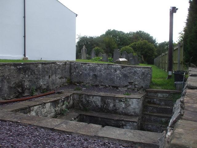 Outdoor baptistry, the former Lisvane Baptist Chapel