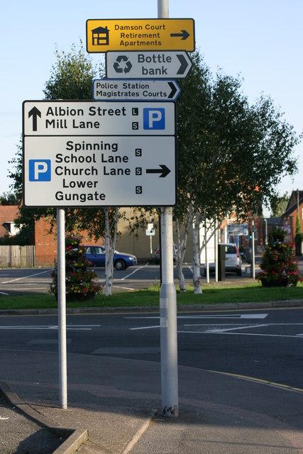 Marmion Street, Traffic signs