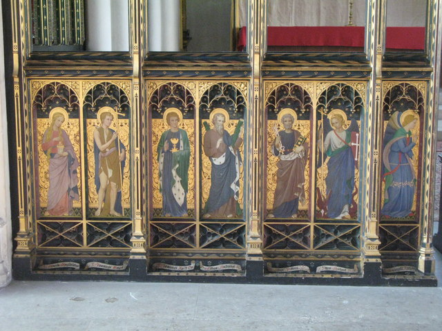St. Cyprian's Church, Glentworth Street, NW1 - painted screen