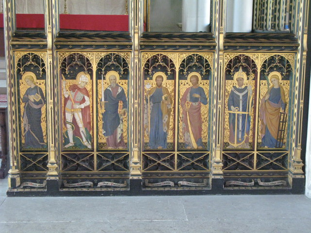 St. Cyprian's Church, Glentworth Street, NW1 - painted screen (2)