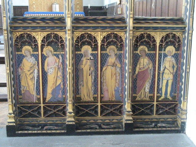 St. Cyprian's Church, Glentworth Street, NW1 - painted screen (3)