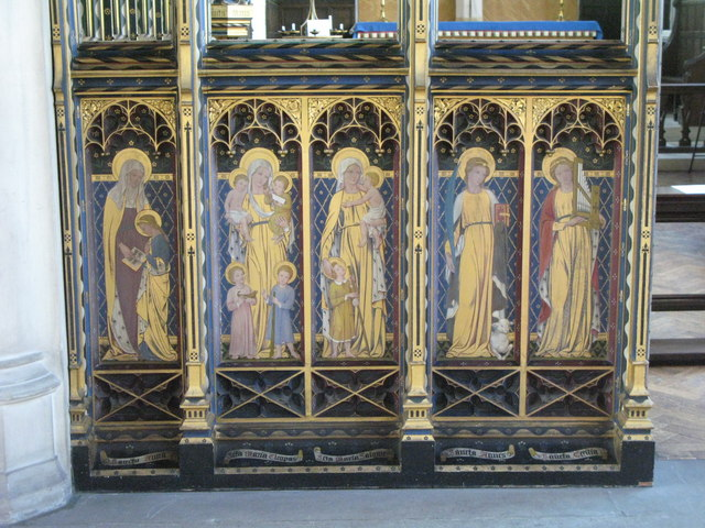 St. Cyprian's Church, Glentworth Street, NW1 - painted screen (4)