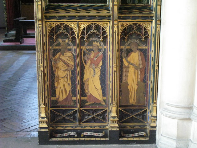St. Cyprian's Church, Glentworth Street, NW1 - painted screen (5)