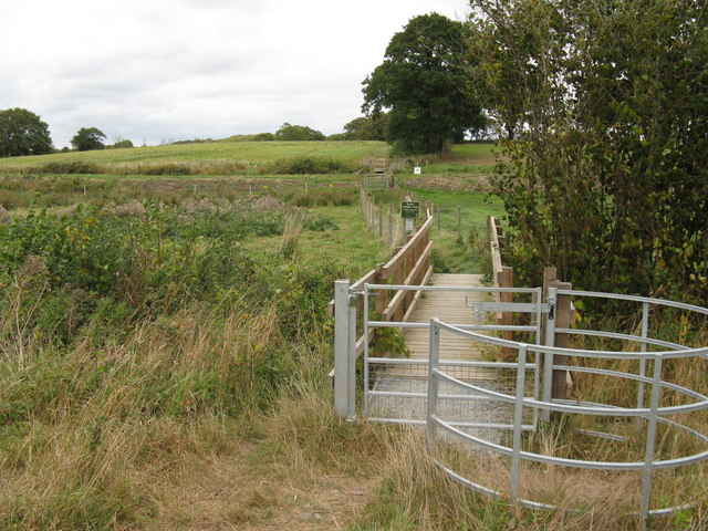New kissing gate on path to Oreham Manor