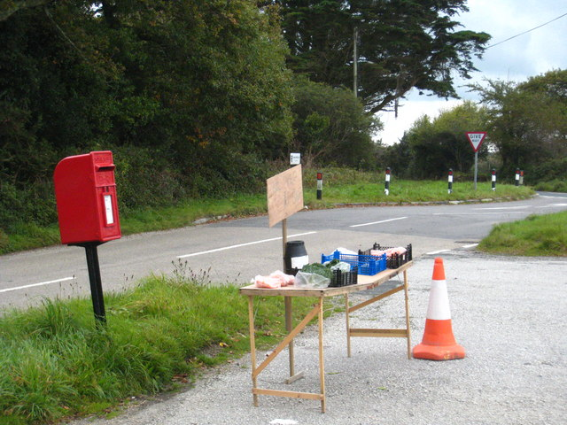 Roadside produce stall at Allet
