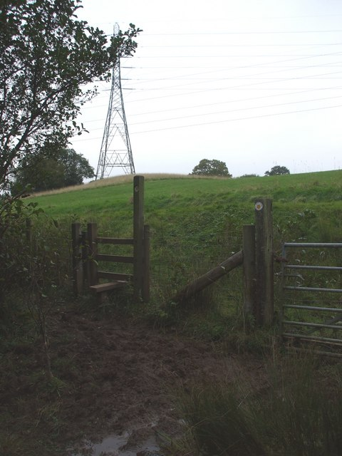 Stile, gate and pylon
