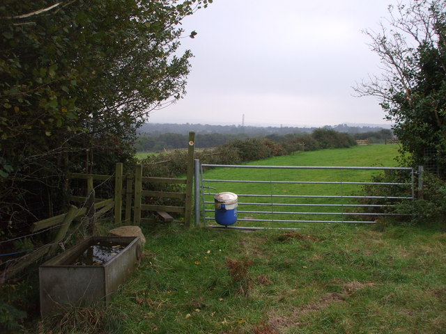 Stile, gate and water-trough