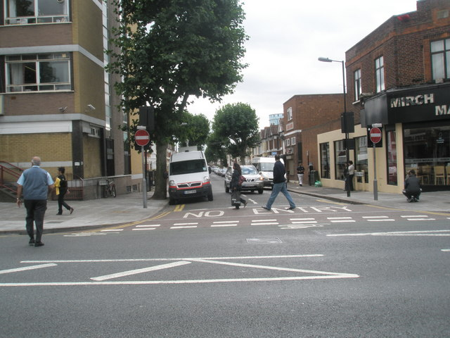 Junction of The Broadway and West End  Road