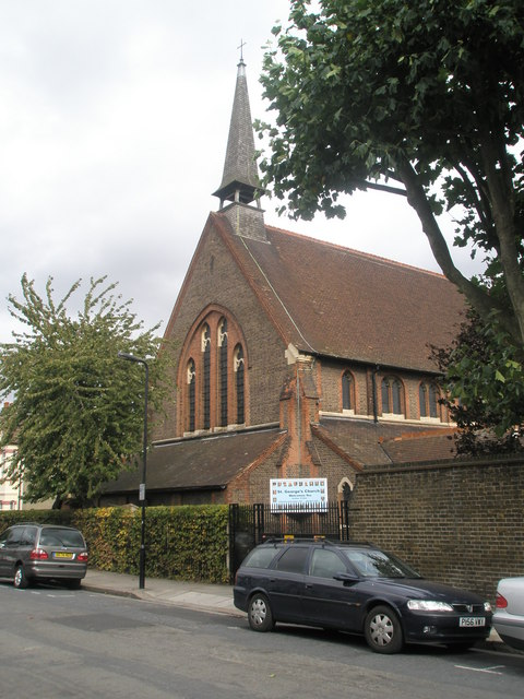 Side view of St George's Church