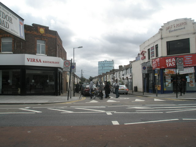 Junction of  Trinity Road and The Broadway