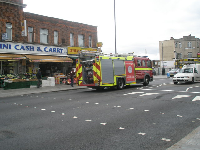 Fire engine in The Broadway