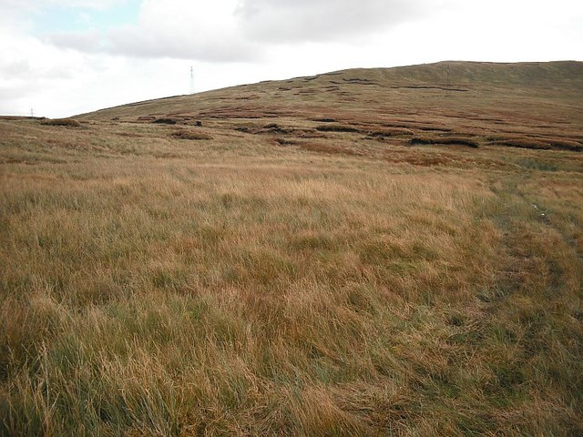 Peat hags between  Beinn Ruadh and Stronchullin Hill
