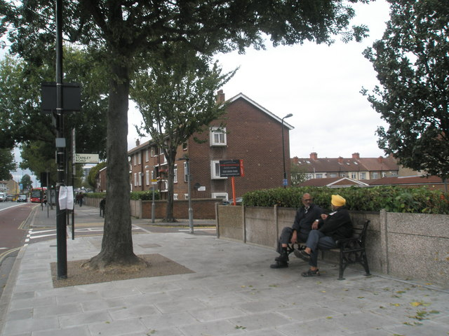 Approaching the junction of Stanley  Road  and The Broadway