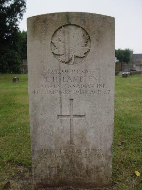 Canadian War Grave, St Saviours, Tetbury.