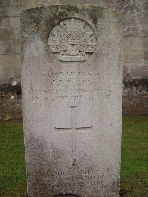 Australian War Grave, St Saviours, Tetbury.