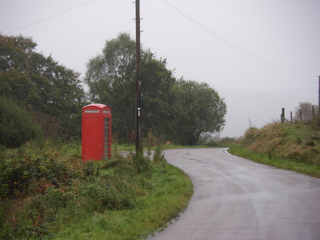Phone box on road between Ariundle and Scotstown