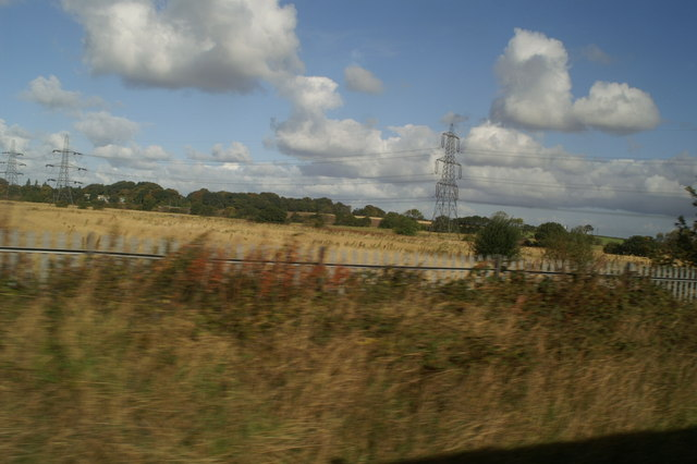 Pylons from Fiddlers Ferry heading towards St Helens