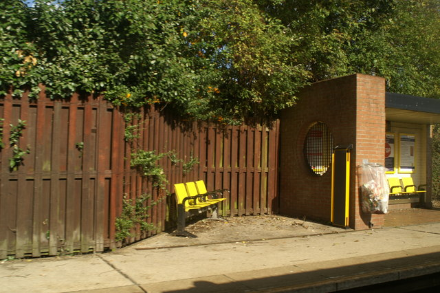 Waiting facilities on Whiston Station